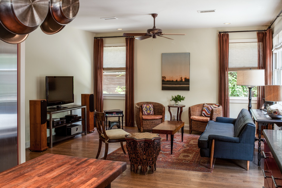 Featured Image of American Eclectic Theme Living Room Interior