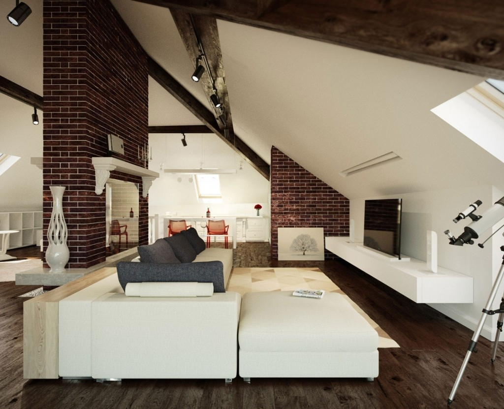 Attic Living Room With Sloped Ceiling 7929 House