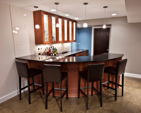 Featured Image of Basement Remodel To Modern Corner Kitchen