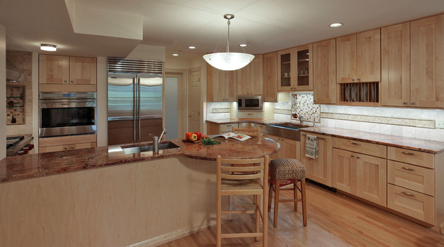 Featured Image of Basement Transformation To Wooden Kitchen Interior