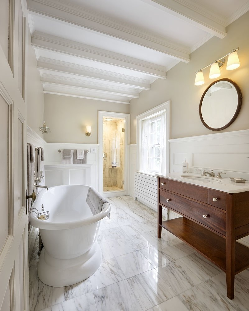 Featured Image of Beautiful Contemporary Bathroom With Rustic Nuance