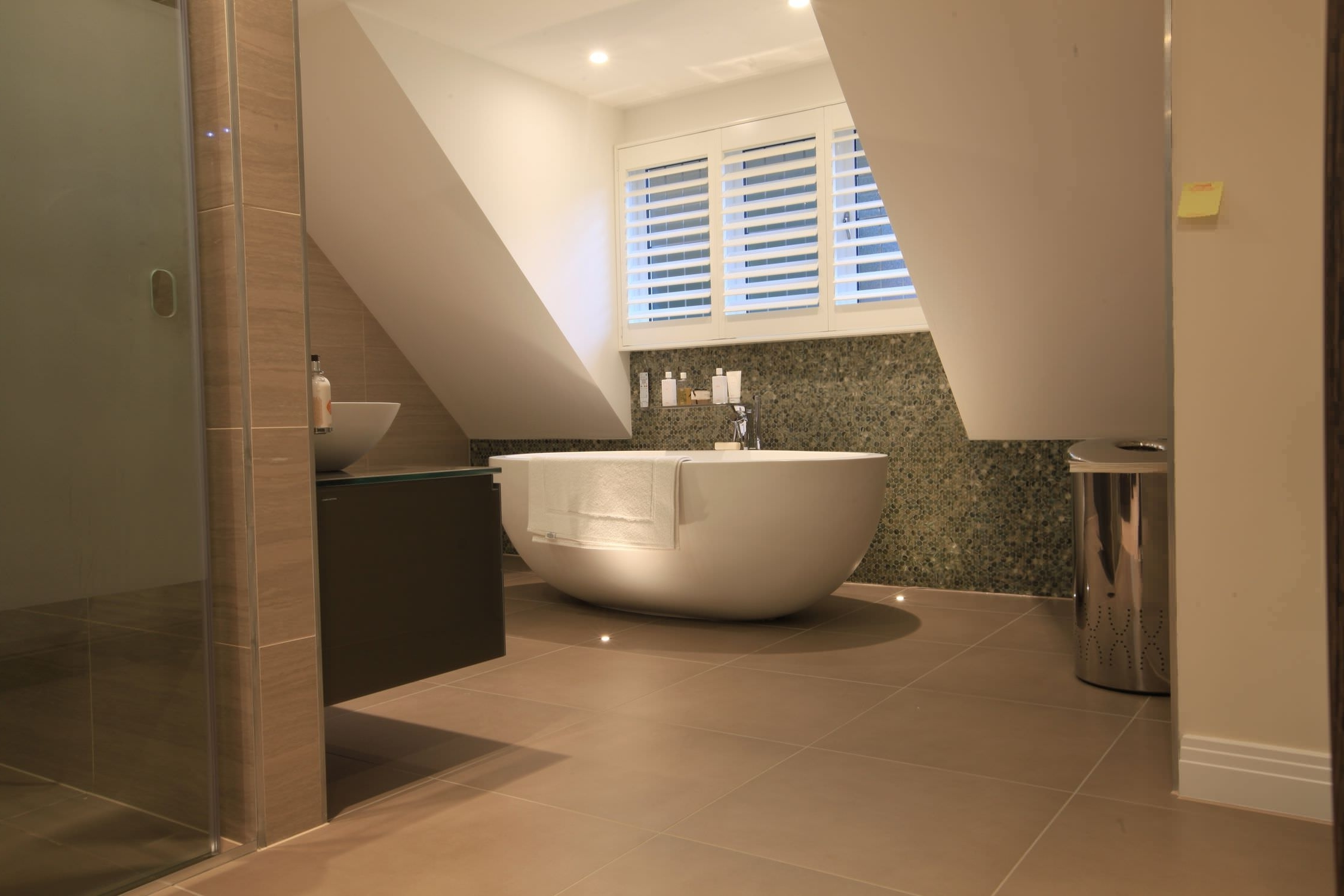 Featured Image of Beauty Contemporary Bathroom Design With Oval Bathtub