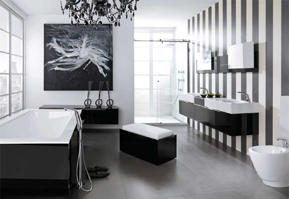Featured Image of Black White Bathroom Interior Ideas