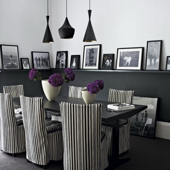 Featured Image of Black White Dining Room Ideas