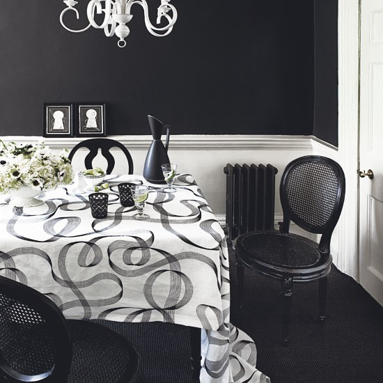 Featured Image of Black White Dining Room Interior Ideas