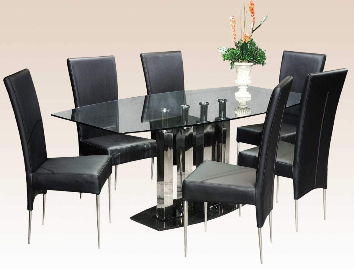 Featured Image of Black White Italian Dining Room Glass Table