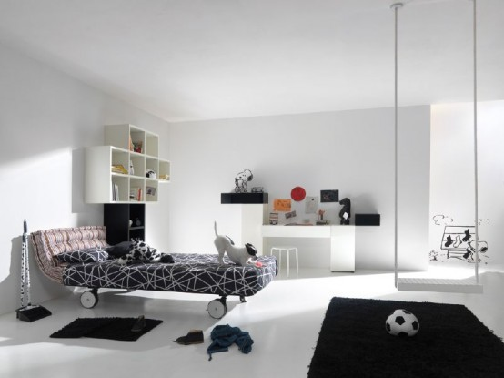 Featured Image of Black White Kid Bedroom Theme Ideas