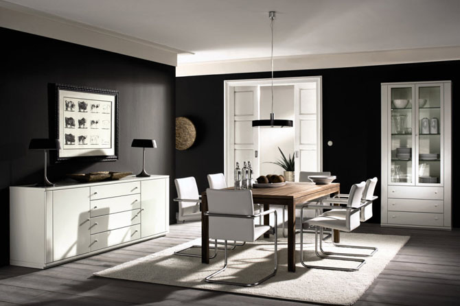 Featured Image of Black White Modern Dining Room Furniture Ideas