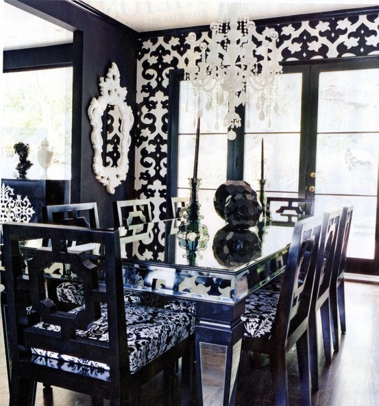 Featured Image of Black And White Dining Room Ideas