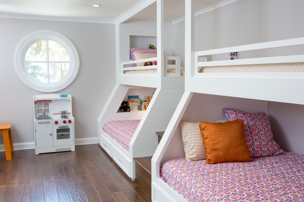 Featured Image of Bunk Beds Decor For Girl In Pink Themes