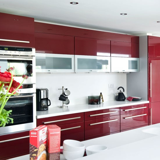 Featured Image of Burgundy Color Scheme Kitchen