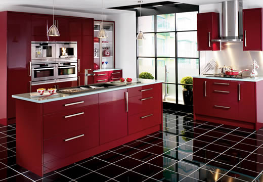 Featured Image of Burgundy Kitchen Furniture Ideas