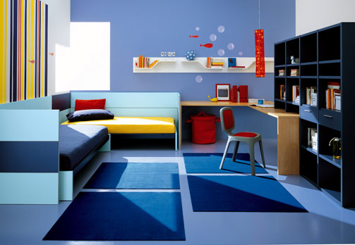 Featured Image of Children Bedroom Blue Wall Decoration