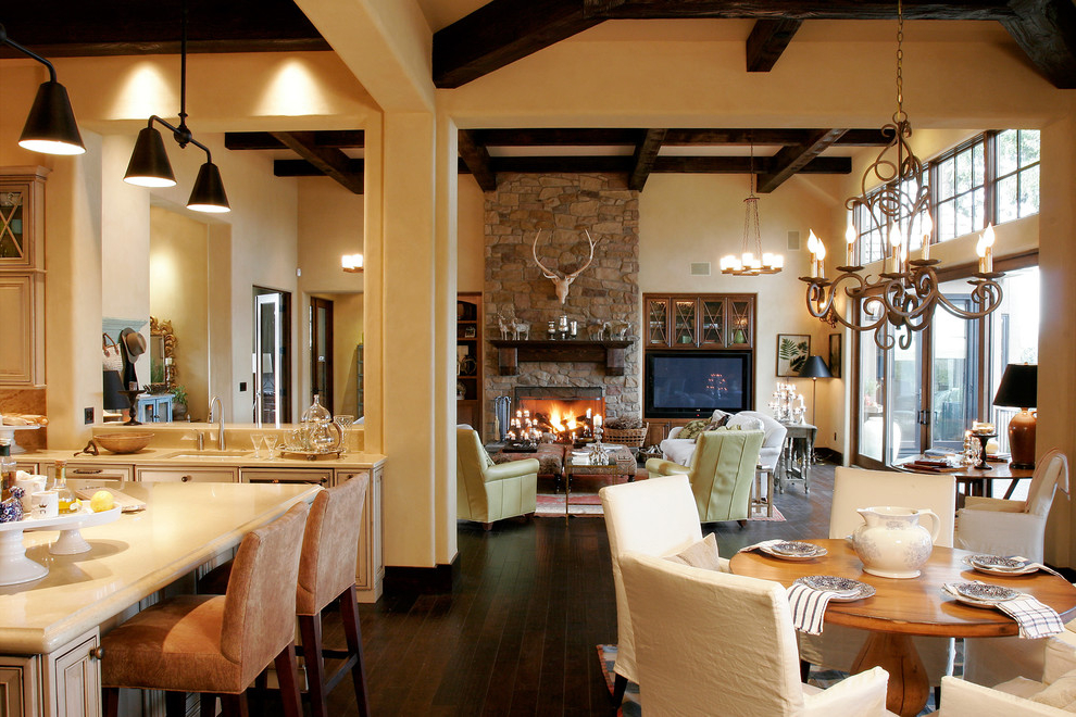 Featured Image of Classic Living Room Interior In Open Floor