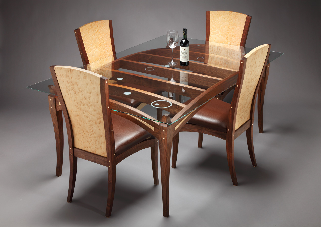 Wooden Arm Chair Designs ~ Wooden dining table designs with glass top house