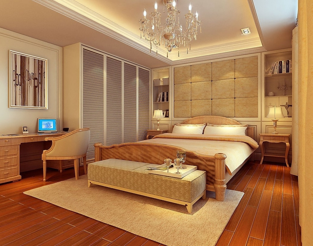 Classical american bedroom interior luxury nuance 7993 for American interior decoration