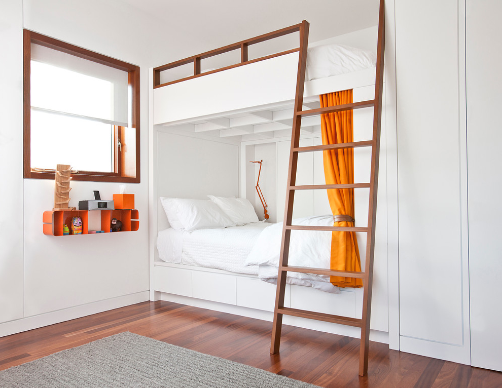 Featured Image of Clean And Minimalist Bunk Beds For Girl Room