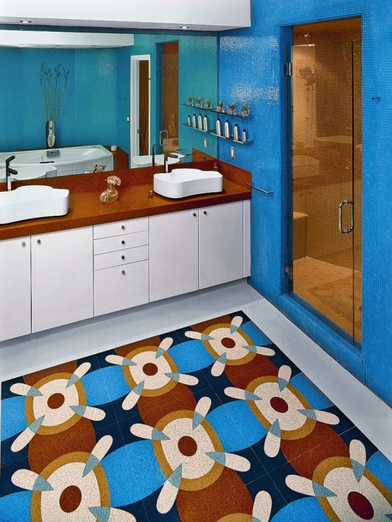 Featured Image of Colorful Bathroom Flooring Ideas