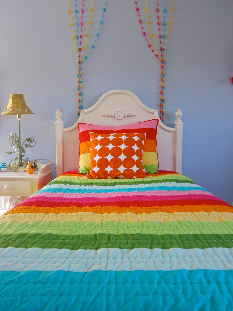 Featured Image of Colorful Bed Decor For Girl Room