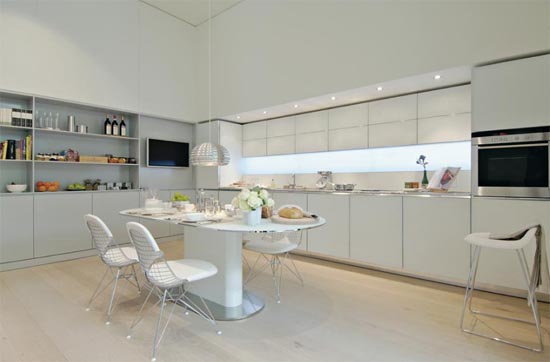 Combining Kitchen And Dining Room Modern 6354 House