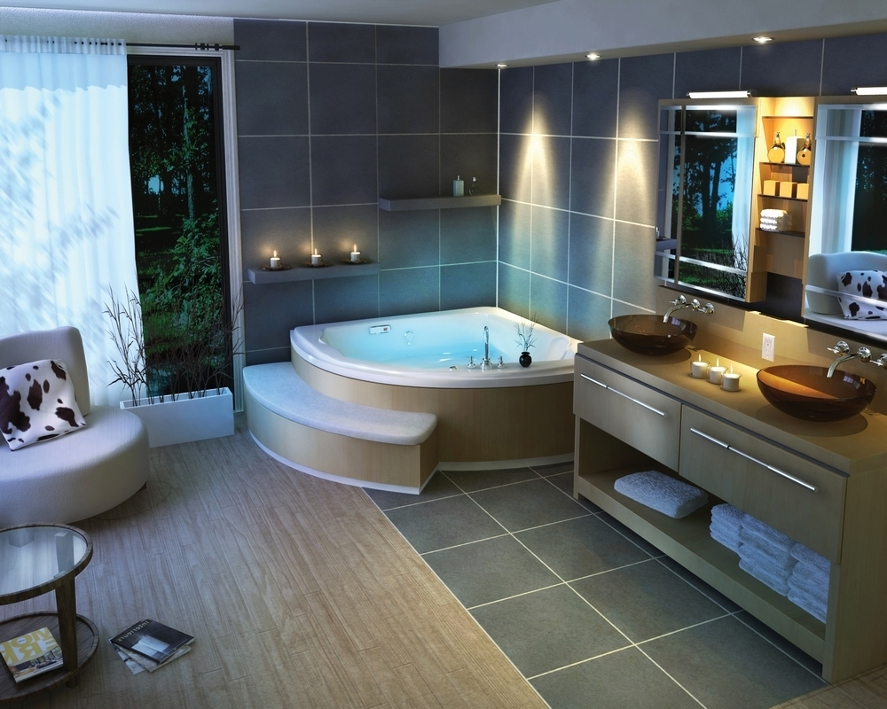 Featured Image of Contemporary Bathroom Ideas For Large Interior