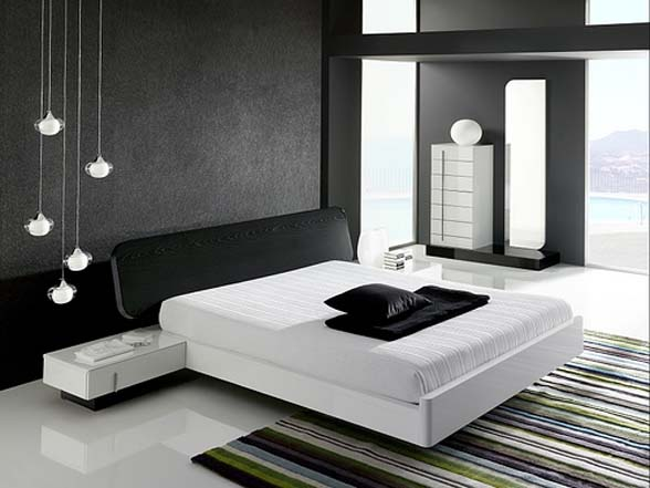 Featured Image of Contemporary Black White Bedroom Design Ideas