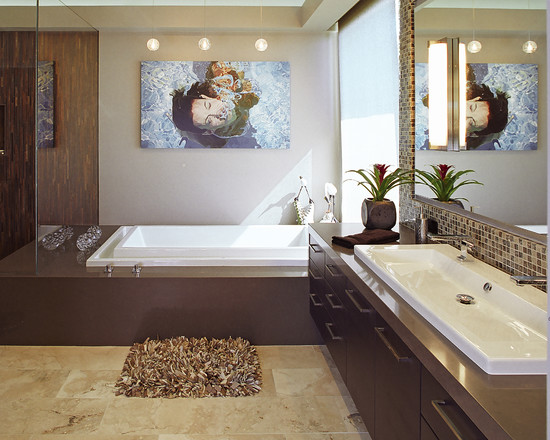 Featured Image of Contemporary Stylish Bathroom Wall Decoration Ideas