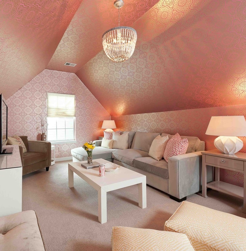A Beautiful Living Room: Cozy And Beautiful Living Room In Attic #7802