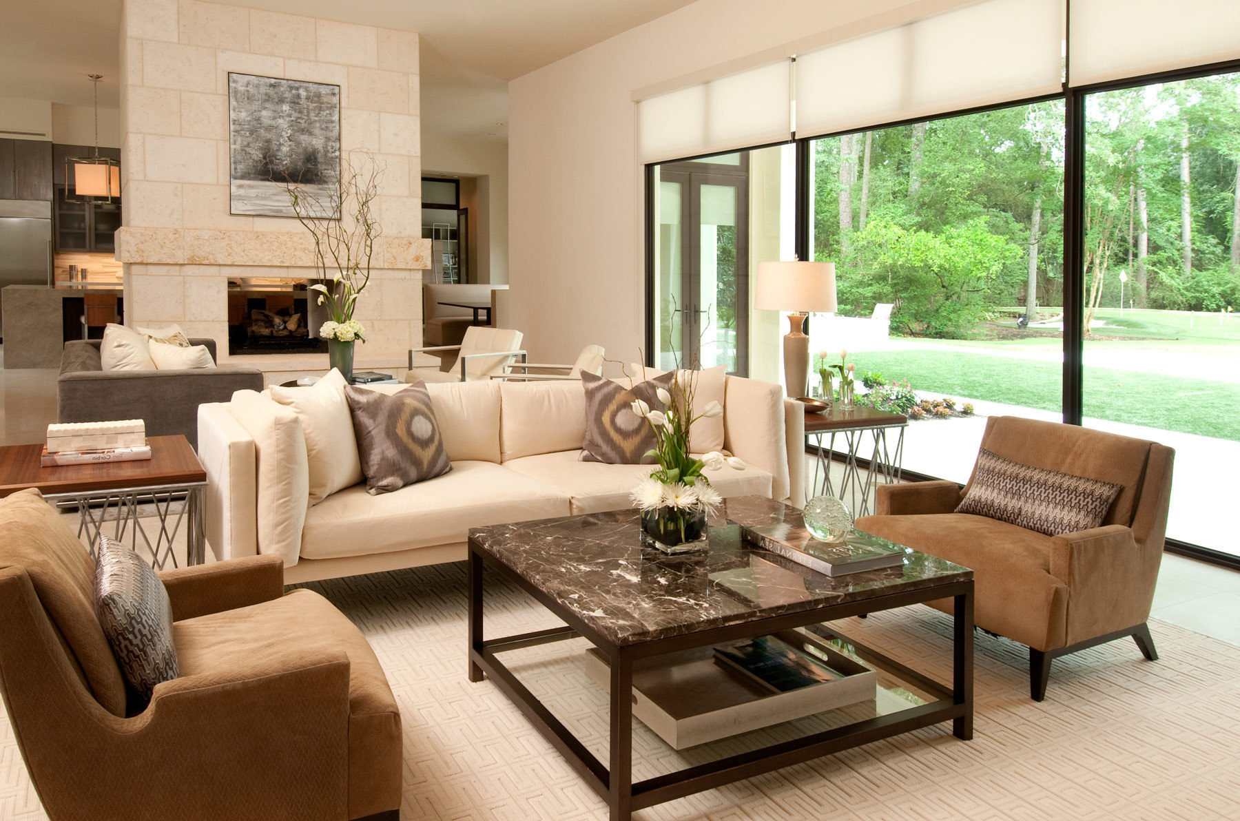 featured image of cozy and comfortable american living room interior - American Living Room Design