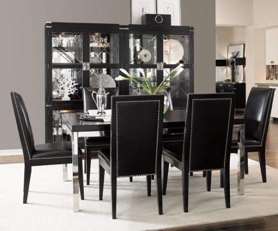 Elegant black white dining room ideas 6210 house for Dining room ideas 2013