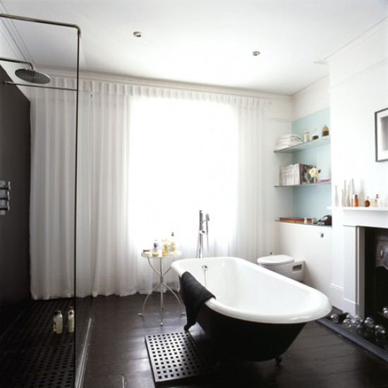 Featured Image of Elegant Black White Shower Room Ideas