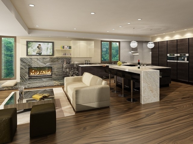 Featured Image of European Kitchen Design With Fireplace