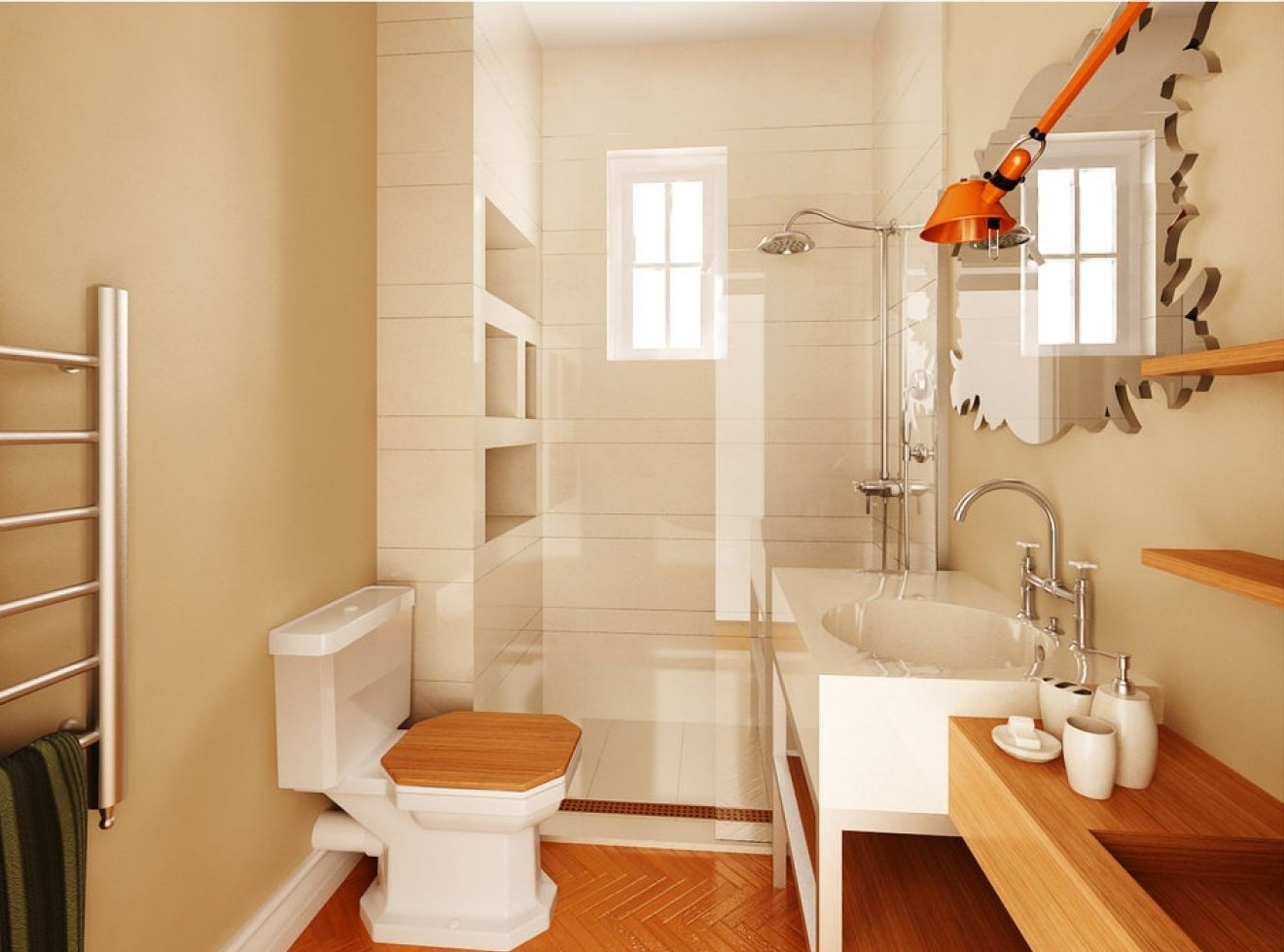Featured Image of Fancy Contemporary Bathroom Shower And Toilet