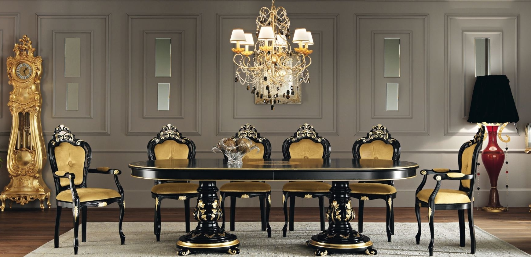 Featured Image of Formal And Classic Italian Dining Room Luxury Nuance