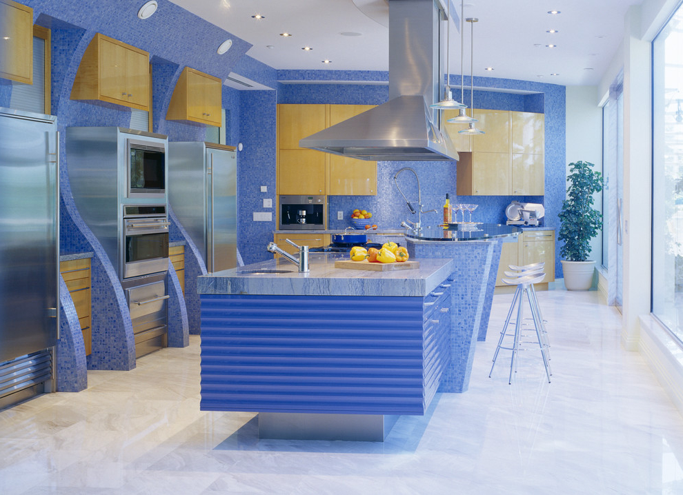 featured image of futuristic kitchen with blue theme design ideas - Futuristic Kitchen