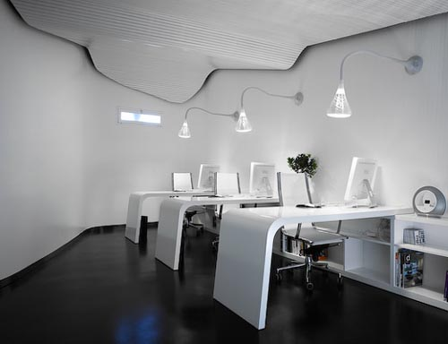 Featured Image of Futuristic Modern Office Interior Design Space