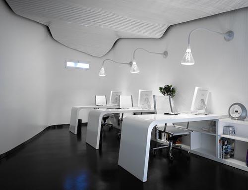 Featured Image Of Futuristic Modern Office Interior Design Space