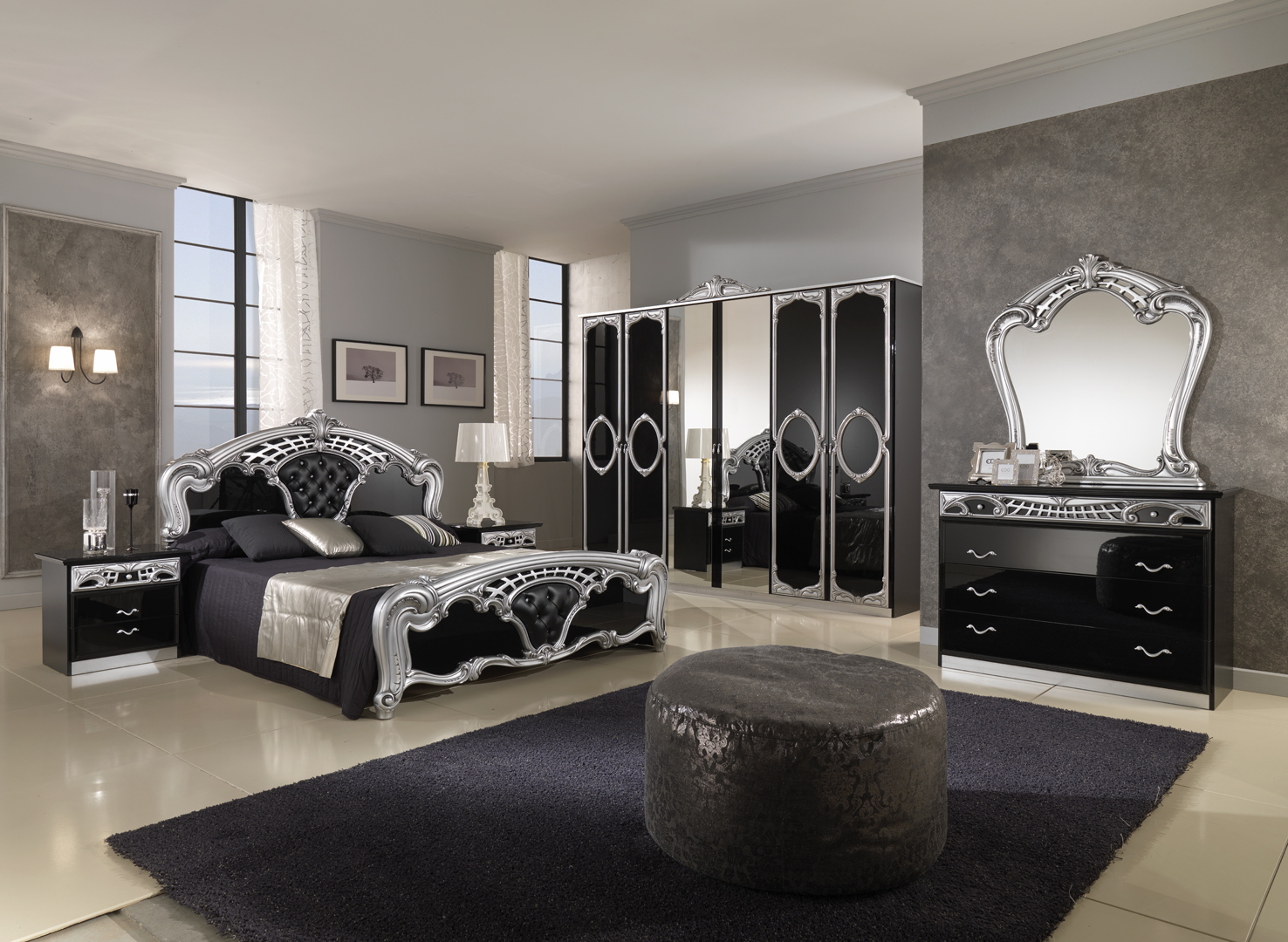Featured Image of Gothic Bedroom Furniture Decor For Large Interior