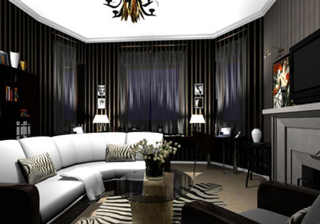 Featured Image of Gothic Living Room Interior Design