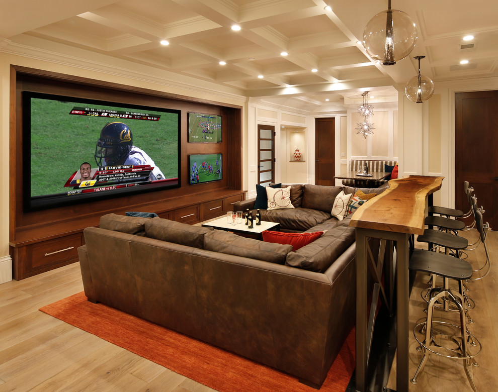 Featured Image of Home Theater Room In European Style