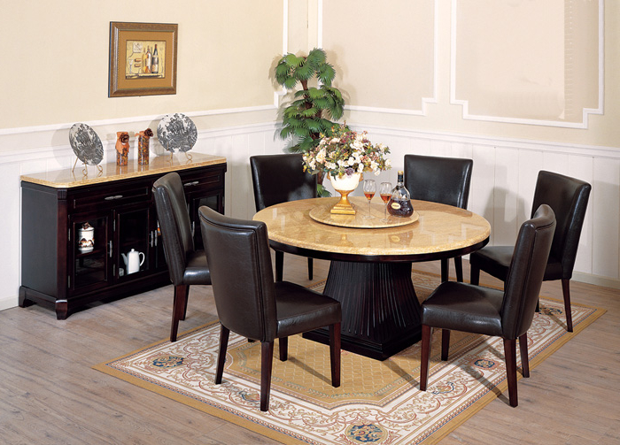 Featured Image of Italian Marble Dining Room Round Design