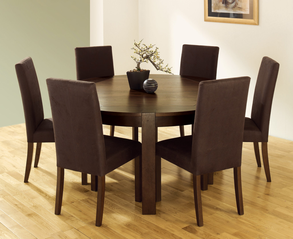 Featured Image of Italian Round Dining Room Tables Brown Color