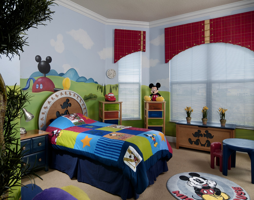 Featured Image of Kid Bedroom Mickey Mouse Interior Theme