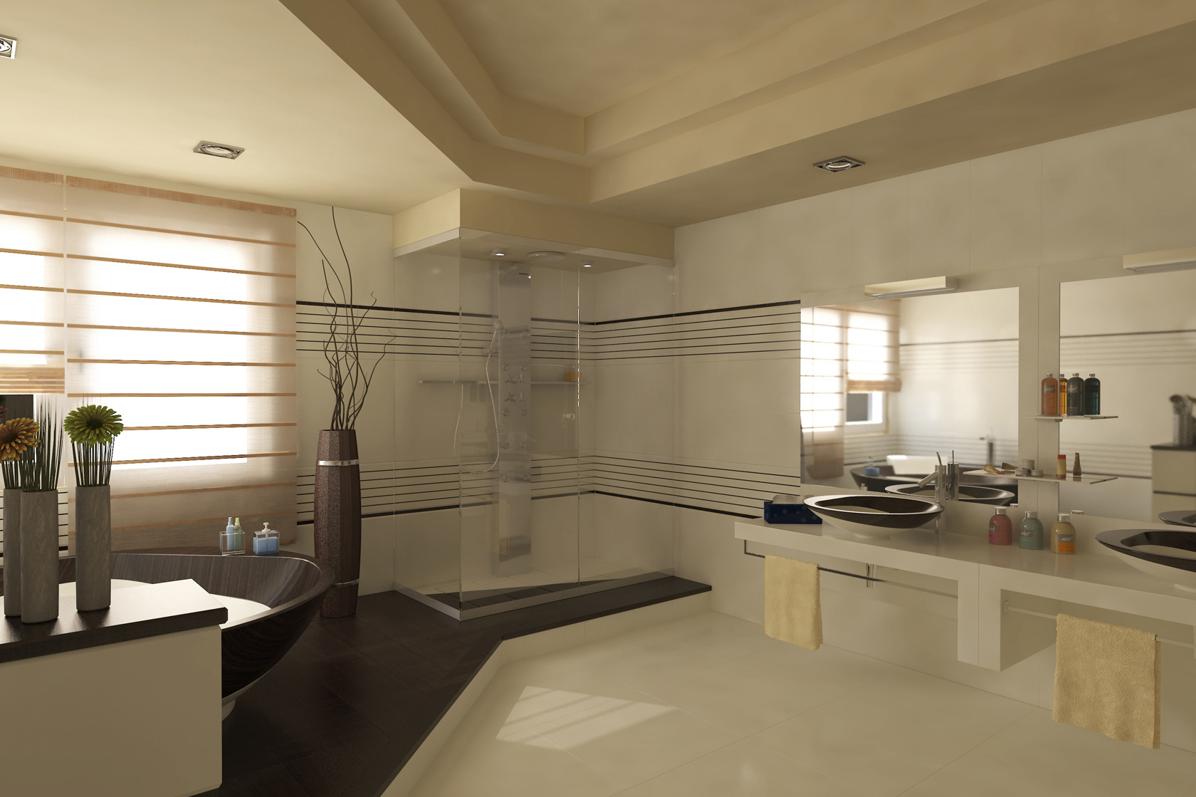 Featured Image of Latest Contemporary Bathroom For Large Interior