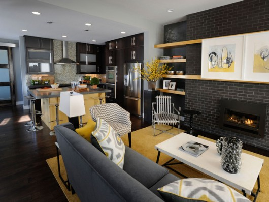 Featured Image of Living Room Combined With Kitchen Decoration Ideas