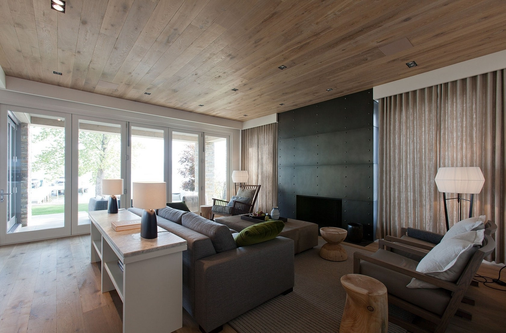 Living room wooden ceiling designs - Featured Image Of Living Room Wood Ceiling Panels
