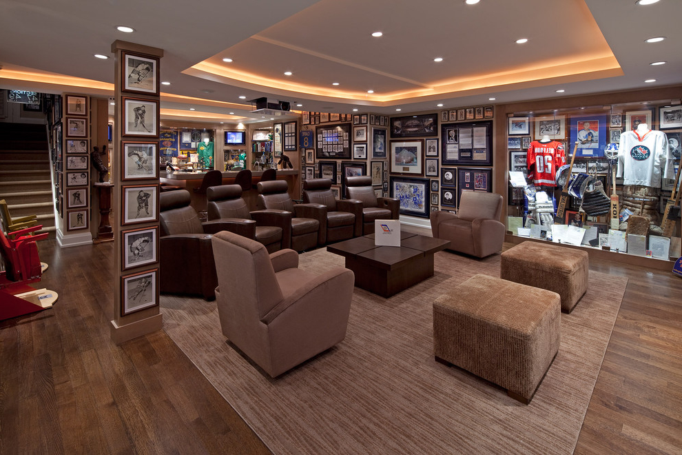Featured Image Of Living Room And Home Theatre In Sport Theme