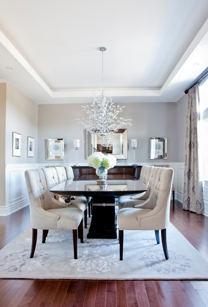 Luxury American Dining Room With Crystal Chandelier 7710