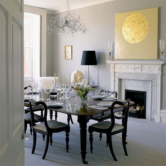 Luxury black white dining room ideas 6212 house for Dining room ideas 2013