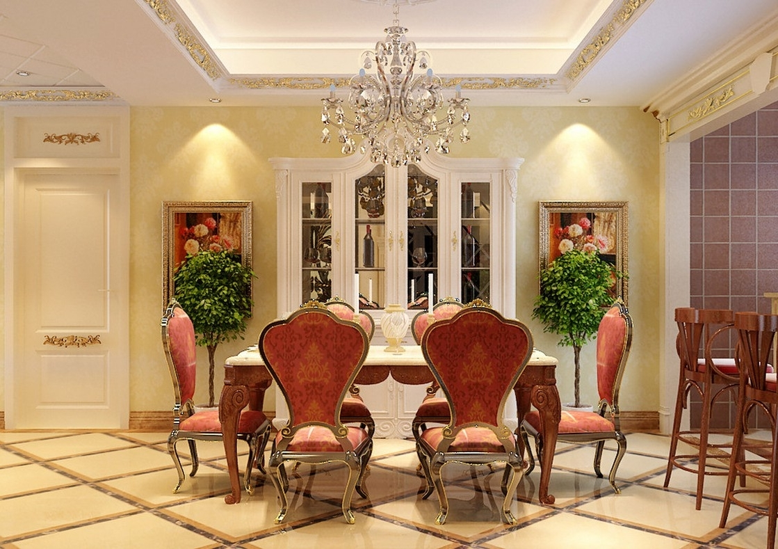 Featured Image of Luxury European Dining Room In Classic Nuance